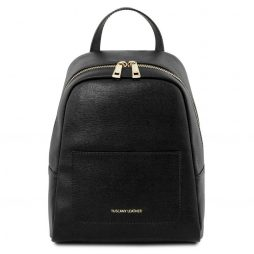Сумка Tuscany Leather TL141701 TL Bag - Small Saffiano leather backpack for woman (Цвет - Черный) - картинка 1