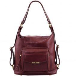Сумка Tuscany Leather TL141535 TL Bag - Женская кожаная сумка-рюкзак 2 в 1 (Цвет - Bordeaux) - картинка 1