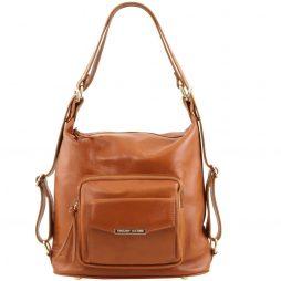 Сумка Tuscany Leather TL141535 TL Bag - Женская кожаная сумка-рюкзак 2 в 1 (Цвет - Коньяк) - картинка 1