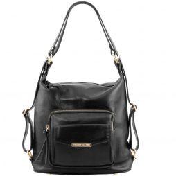 Сумка Tuscany Leather TL141535 TL Bag - Женская кожаная сумка-рюкзак 2 в 1 (Цвет - Черный) - картинка 1