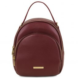 Сумка Tuscany Leather TL141743 TL Bag - Leather backpack for women (Цвет - Bordeaux) - картинка 1