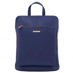 Сумка Tuscany Leather TL141682 TL Bag - Soft leather backpack for women (Цвет - Темно-синий) - картинка 1