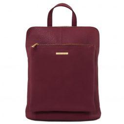 Сумка Tuscany Leather TL141682 TL Bag - Soft leather backpack for women (Цвет - Bordeaux) - картинка 1