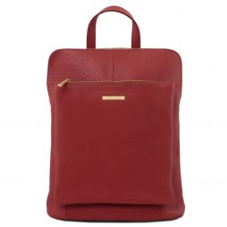 Сумка Tuscany Leather TL141682 TL Bag - Soft leather backpack for women (Цвет - Красный) - картинка 1