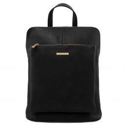Сумка Tuscany Leather TL141682 TL Bag - Soft leather backpack for women (Цвет - Черный) - картинка 1
