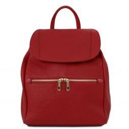 Сумка Tuscany Leather TL141697 TL Bag - Soft leather backpack for women (Цвет - Красный) - картинка 1