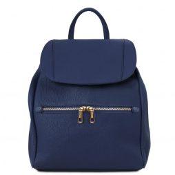 Сумка Tuscany Leather TL141697 TL Bag - Soft leather backpack for women (Цвет - Темно-синий) - картинка 1