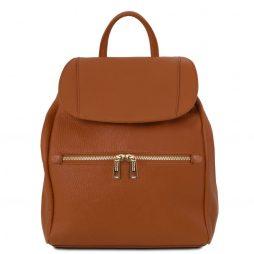 Сумка Tuscany Leather TL141697 TL Bag - Soft leather backpack for women (Цвет - Коньяк) - картинка 1
