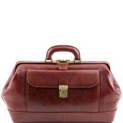 """Сумка Tuscany Leather TL141298 Bernini - Эксклюзивная кожаная """"докторская"""" сумка (Цвет - Коричневый) - картинка 1"""