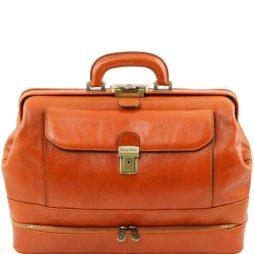 "Сумка Tuscany Leather TL141297 Giotto - Эксклюзивная кожаная ""докторская"" сумка с двойным дном (Цвет - Мед) - картинка 1"