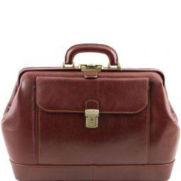 """Сумка Tuscany Leather TL141299 Leonardo - Эксклюзивная кожаная """"докторская"""" сумка (Цвет - Коричневый) - картинка 1"""