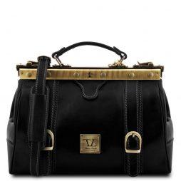 Сумка Tuscany Leather TL10034 Monalisa - Кожаный саквояж Gladstone с пряжками спереди (Цвет - Черный) - картинка 1