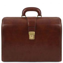 Сумка Tuscany Leather TL141347 Canova - Кожаный портфель-саквояж на три отделения (Цвет - Коричневый) - картинка 1